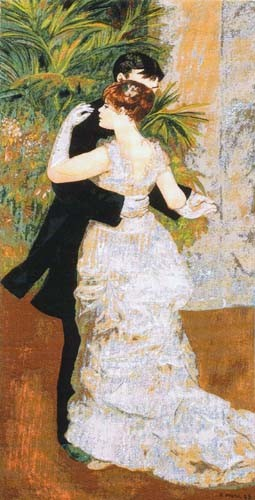 Dance in the City tapestry - Impressionist art