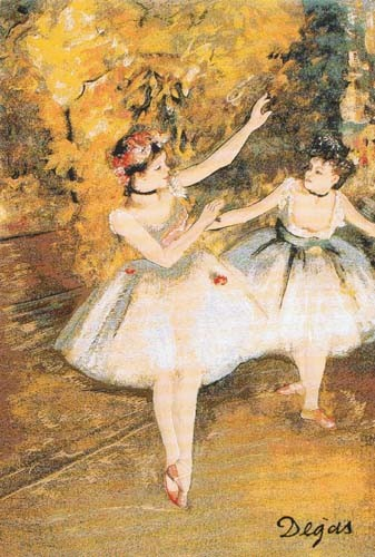 Two Dancers tapestry - French wall tapestry