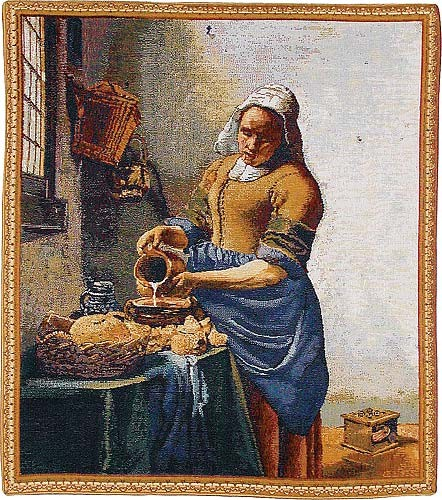 The Servant Girl tapestry - Vermeer wall tapestries