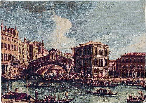 The Rialto Bridge tapestry - Italian wall tapestry