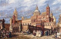 Palermo Cathedral tapestry - woven in Italy