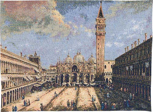 Piazza San Marco tapestry - Italian wall hanging