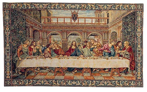 Last Supper tapestry wallhanging - da Vinci tapestrie