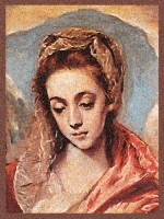 Santa Ana tapestry - El Greco Sagrada Familia