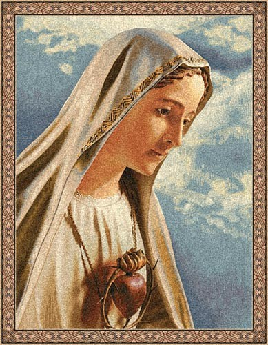 Fatima wall tapestry - Belgian religious tapestry