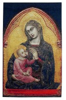 Madonna in Gold tapestry - Belgian wall hanging