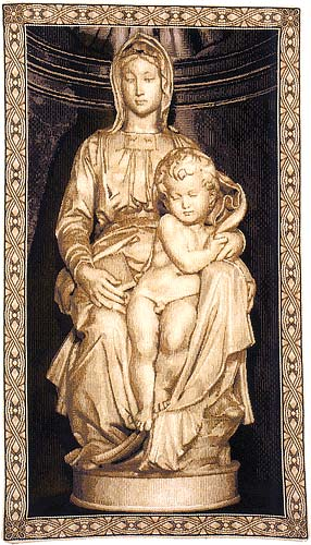 Madonna and Child tapestry - Michelangelo sculpture