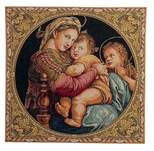 Madonna of the Chair tapestry - Madonna della Seggiola
