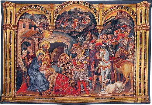 Adoration of the Magi tapestry - Gentile da Fabriano altarpiece