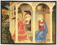 The Annunciation tapestry - Fra Angelico fresco