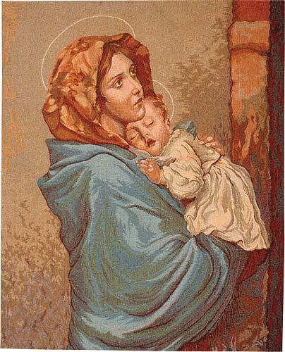 Madonna of the Streets tapestry - Roberto Ferruzzi