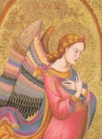 Annunciation Angel tapestry - wall tapestry woven in Italy