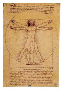 Man of Vitruve tapestry - da Vinci tapestries