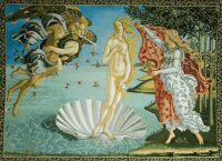 The Birth of Venus tapestry - Sandro Botticelli art
