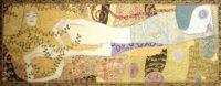 Klimt Water Snakes tapestry - Italian Art Nouveau wallhanging