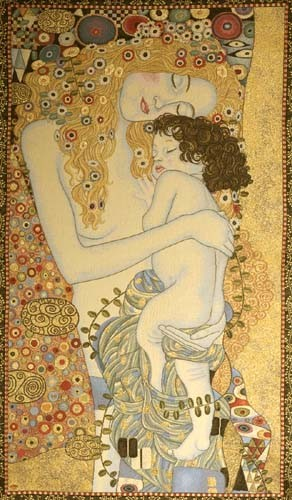 Ages of Women - Klimt tapestry - Art Nouveau wallhanging
