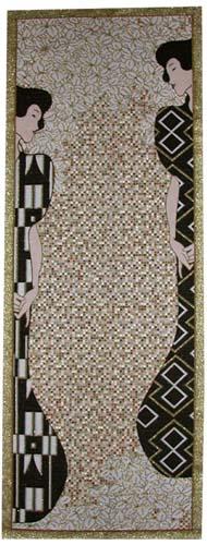Gustav Klimt Silhouette tapestry - Klimt tapestries