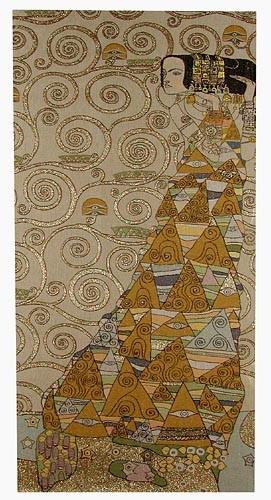 The Waiting tapestry - Art Nouveau design by Gustav Klimt