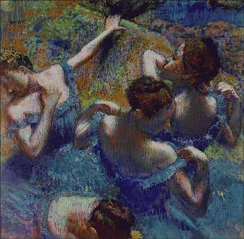 Blue Dancers Degas tapestry - dancing tapestries