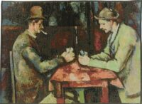 The Card Players tapestry - Cezanne Impressionist art