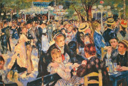 Dance at le Moulin de la Galette - Belgian tapestry