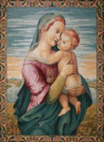Tempi Madonna tapestry - Italian tapestry wall-hanging