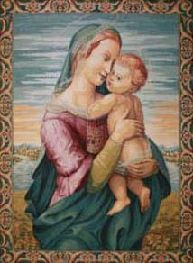 Tempi Madonna tapestry - Italian tapestry wall-hanging