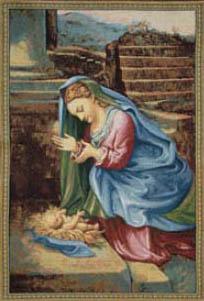 Corregio Madonna tapestry - Italian wall tapestry