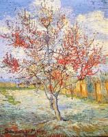 Van Gogh Peach Tree tapestry - Belgian tapestry wallhanging