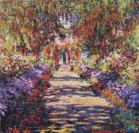 Allee de Monet tapestry - garden at Giverny