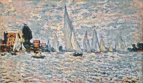 Regattas at Argenteuil - Monet tapestry art