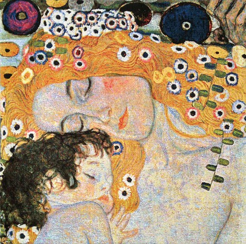 Klimt Mother and Child tapestry - The Three Ages of Woman