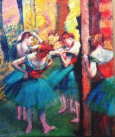 Edgar Degas Dancers, Pink and Green tapestry