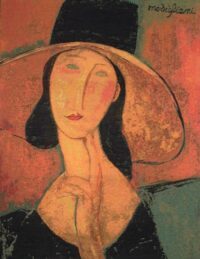 Portrait of Woman in Hat tapestry - Modigliani
