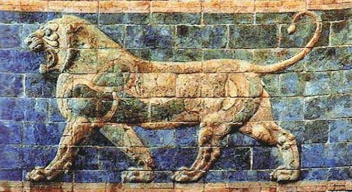 Lion II - Darius tapestry - ancient art tapestries