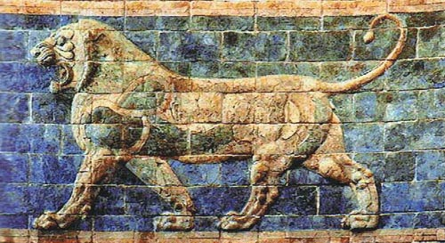 Lion II - Darius tapestry - ancient art tapestries