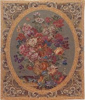 Floral Composition cream tapestry - Italian wall tapestries