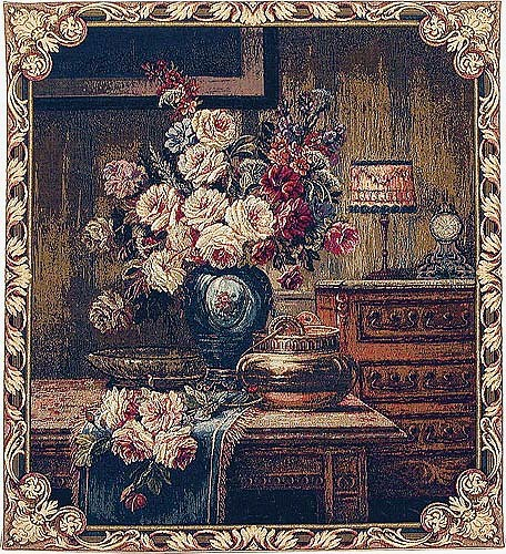 1930s Floral Setting tapestry - Italian wall tapestries
