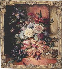 Fruit and Flowers tapestry - woven in Italy
