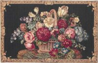 Basket of Flowers - Italian tapestry wallhanging