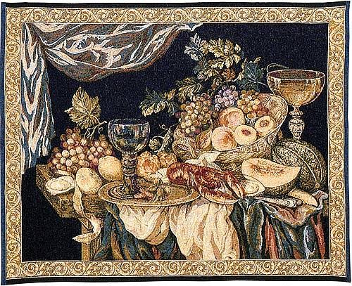 Still Life wall tapestry - woven in Italy