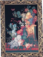 Bouquet on a Column tapestry - still life tapestry