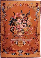 18th Century Bouquet tapestry - English tapestry wall-hanging