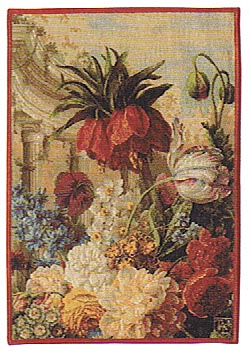 Exotic Bouquet tapestry detail - French wallhanging