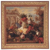 Exotic Bouquet square tapestry - French wallhanging