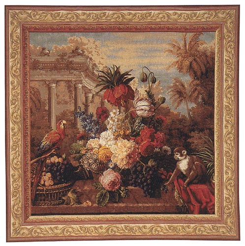 Exotic Bouquet square tapestry - Jan Frans van Dael