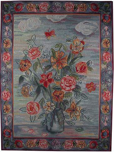 Garden Flowers in Vase tapestry