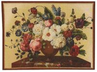 Silk Bouquet of Flowers tapestry - silk wall tapestries