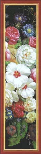 Peonies Floral Portiere - French tapestry