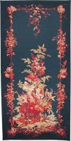 Blue Floral Portiere - sale tapestry wallhangings